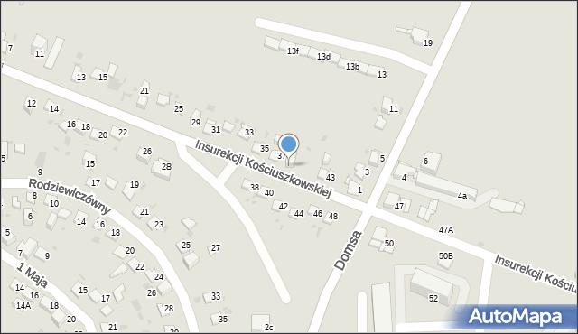 Jaworzno, Insurekcji Kościuszkowskiej, 39, mapa Jaworzno