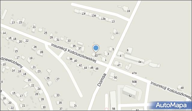 Jaworzno, Insurekcji Kościuszkowskiej, 43, mapa Jaworzno