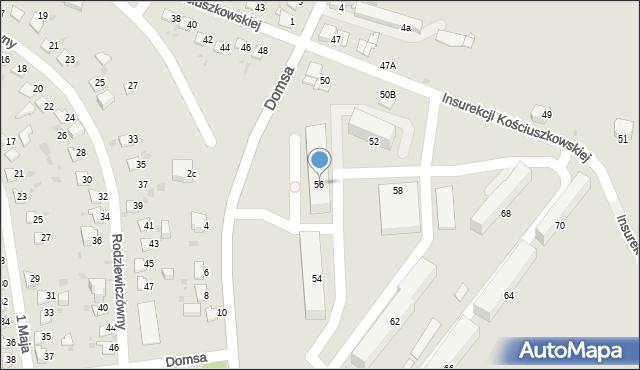 Jaworzno, Insurekcji Kościuszkowskiej, 56, mapa Jaworzno