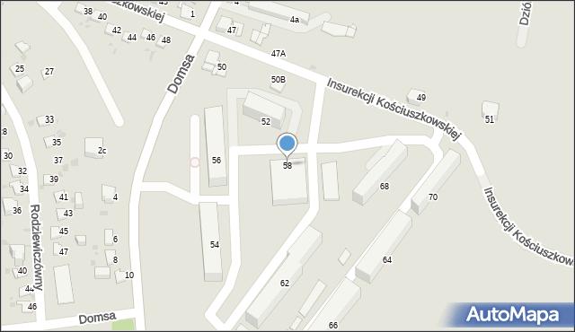 Jaworzno, Insurekcji Kościuszkowskiej, 58, mapa Jaworzno
