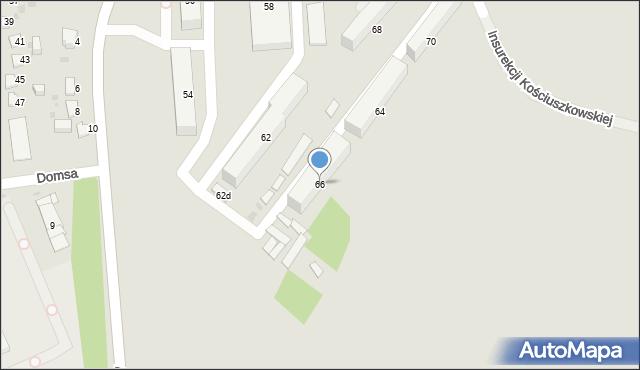 Jaworzno, Insurekcji Kościuszkowskiej, 66, mapa Jaworzno