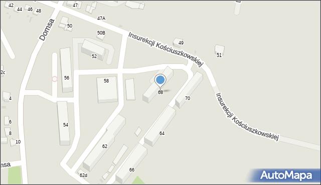 Jaworzno, Insurekcji Kościuszkowskiej, 68, mapa Jaworzno