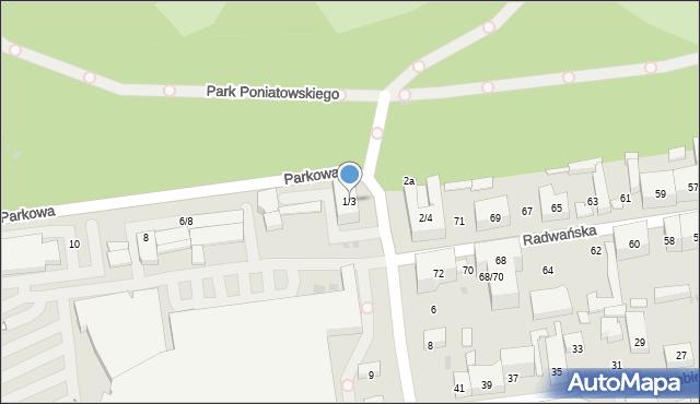 Łódź, Inżynierska, 1/3, mapa Łodzi