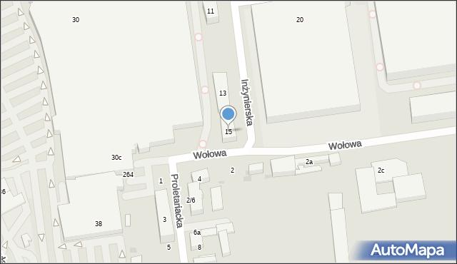 Łódź, Inżynierska, 15, mapa Łodzi