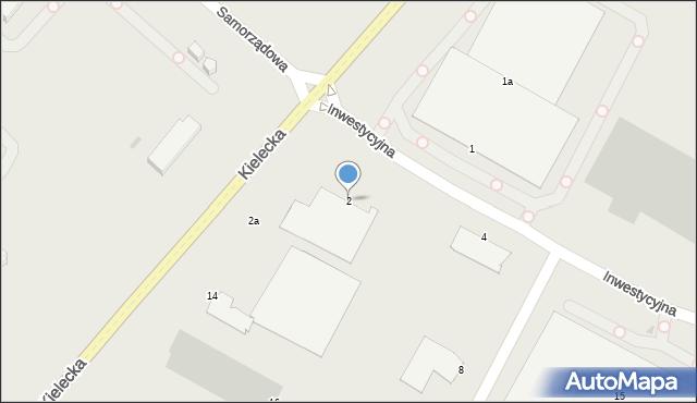 Radom, Inwestycyjna, 2, mapa Radomia