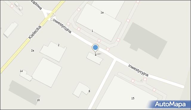 Radom, Inwestycyjna, 4, mapa Radomia