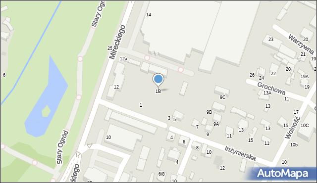 Radom, Inżynierska, 1B, mapa Radomia