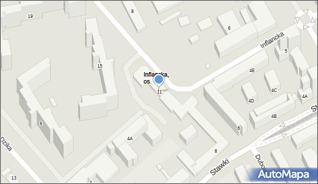 Warszawa, Inflancka, 11, mapa Warszawy
