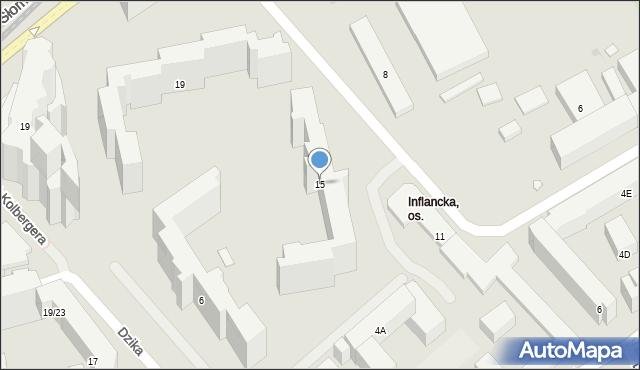Warszawa, Inflancka, 15, mapa Warszawy