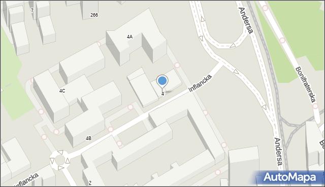 Warszawa, Inflancka, 4, mapa Warszawy