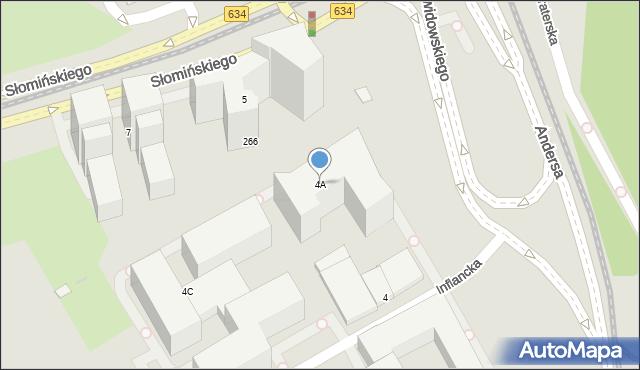 Warszawa, Inflancka, 4A, mapa Warszawy