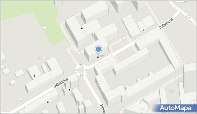 Warszawa, Inflancka, 4B, mapa Warszawy