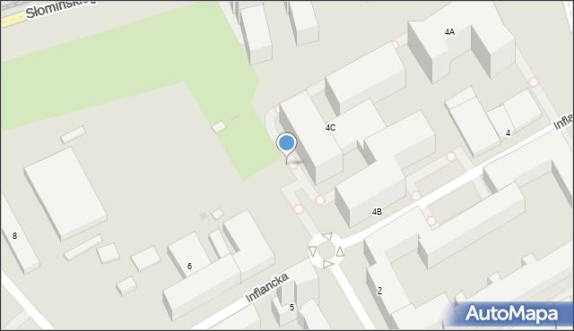 Warszawa, Inflancka, 4d, mapa Warszawy