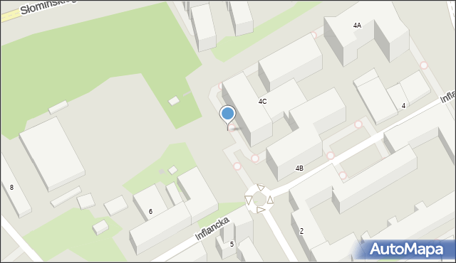Warszawa, Inflancka, 4p, mapa Warszawy