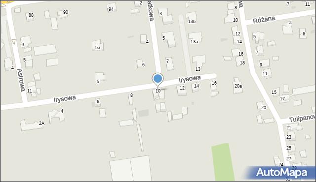 Grudziądz, Irysowa, 10, mapa Grudziądza