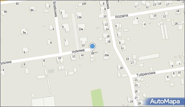 Grudziądz, Irysowa, 16, mapa Grudziądza