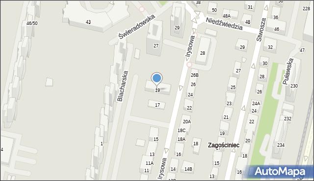Warszawa, Irysowa, 19, mapa Warszawy