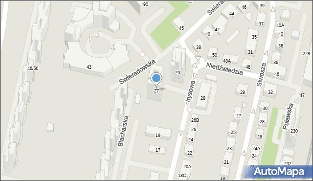 Warszawa, Irysowa, 27, mapa Warszawy
