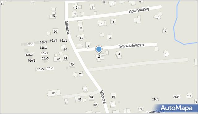 Rzeszów, Iwaszkiewicza Jarosława, 13, mapa Rzeszów