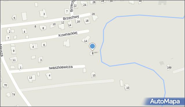 Rzeszów, Iwaszkiewicza Jarosława, 9, mapa Rzeszów