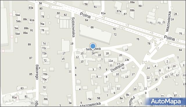 Toruń, Iwanowa Zbigniewa, 14, mapa Torunia