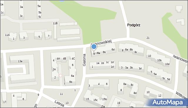 Toruń, Iwanowskiej Wilhelminy, 6, mapa Torunia
