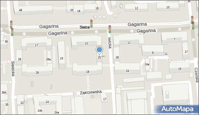 Warszawa, Iwicka, 21, mapa Warszawy