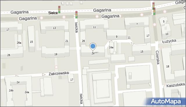 Warszawa, Iwicka, 24, mapa Warszawy
