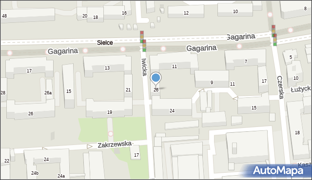 Warszawa, Iwicka, 26, mapa Warszawy
