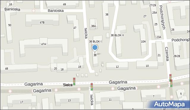 Warszawa, Iwicka, 36, mapa Warszawy