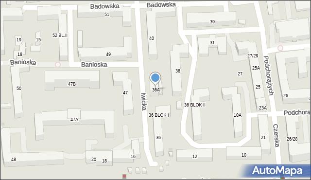Warszawa, Iwicka, 36A, mapa Warszawy