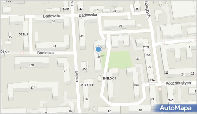 Warszawa, Iwicka, 38, mapa Warszawy