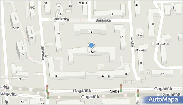 Warszawa, Iwicka, 47A, mapa Warszawy