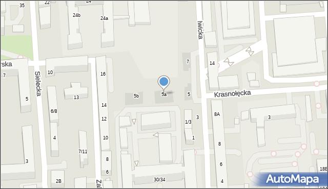 Warszawa, Iwicka, 5a, mapa Warszawy