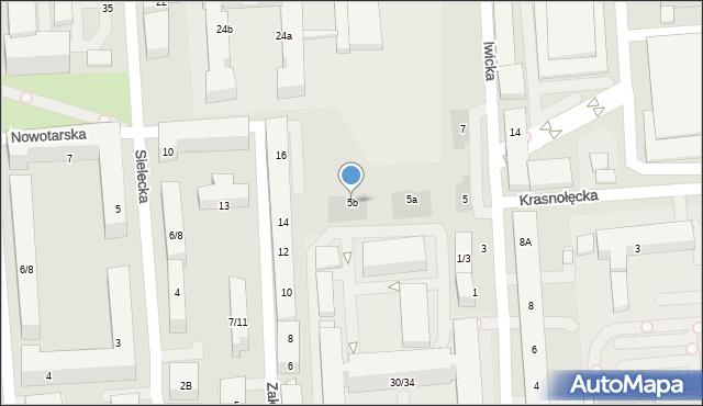Warszawa, Iwicka, 5b, mapa Warszawy