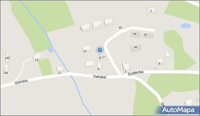 Szklarska Poręba, Izerska, 8, mapa Szklarska Poręba