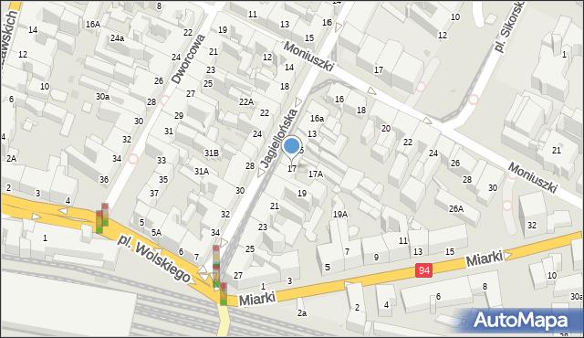 Bytom, Jagiellońska, 17, mapa Bytomia