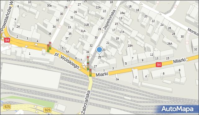Bytom, Jagiellońska, 25, mapa Bytomia
