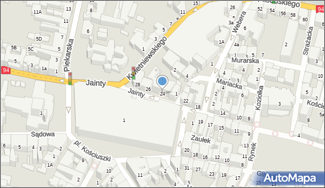 Bytom, Jainty Józefa, 24, mapa Bytomia
