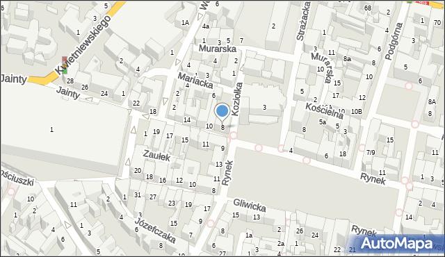 Bytom, Jainty Józefa, 8, mapa Bytomia