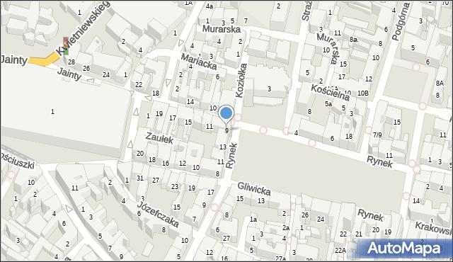 Bytom, Jainty Józefa, 9, mapa Bytomia