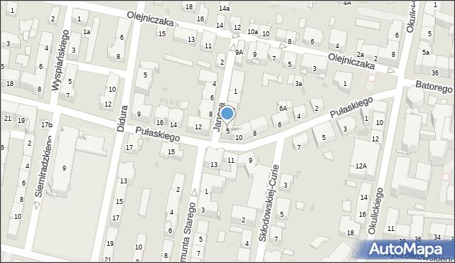 Bytom, Janasa Wincentego, 5, mapa Bytomia