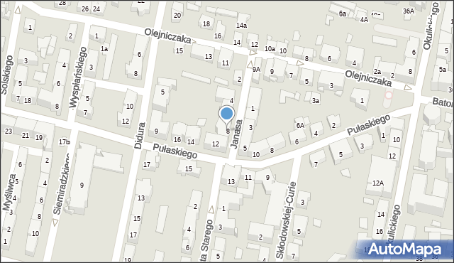 Bytom, Janasa Wincentego, 8, mapa Bytomia