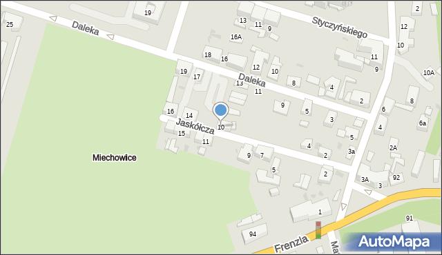 Bytom, Jaskółcza, 10, mapa Bytomia