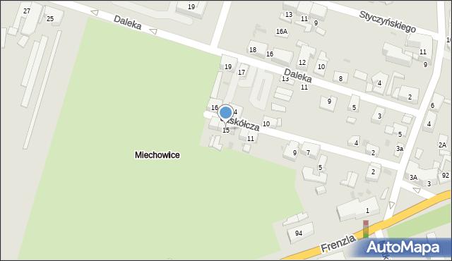 Bytom, Jaskółcza, 15, mapa Bytomia