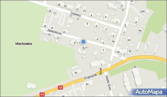 Bytom, Jaskółcza, 5, mapa Bytomia