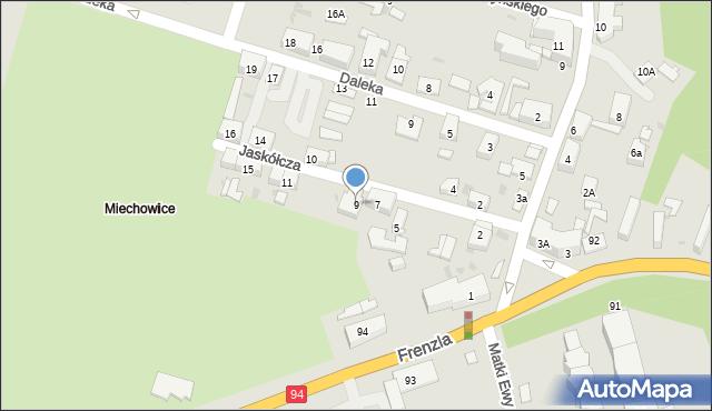 Bytom, Jaskółcza, 9, mapa Bytomia