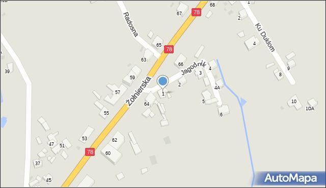 Bytom, Jagodnik, 1, mapa Bytomia