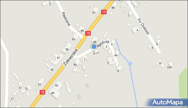 Bytom, Jagodnik, 2, mapa Bytomia