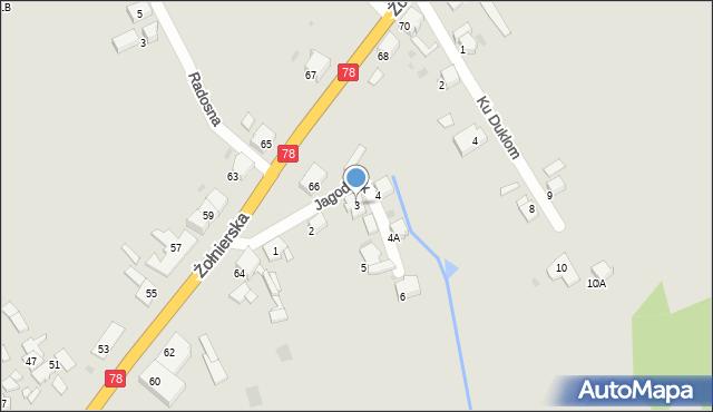 Bytom, Jagodnik, 3, mapa Bytomia